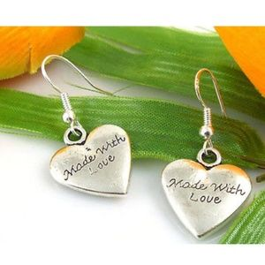 """Jewelry - """"Made with Love"""" Heart Earrings"""